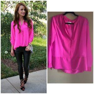 Hot pink Calvin Klein Blouse (L)